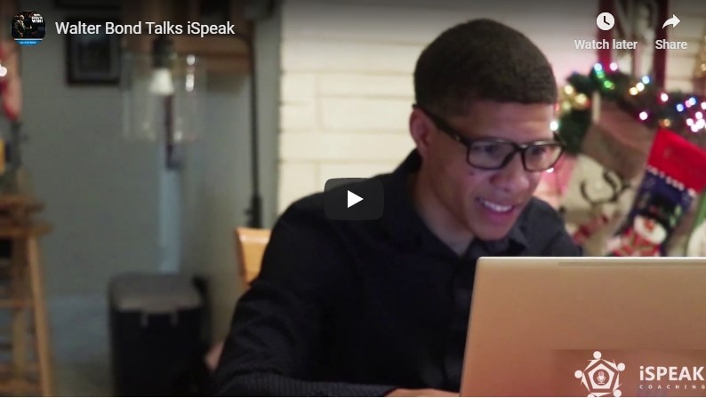 Walter Bond Talks iSpeak