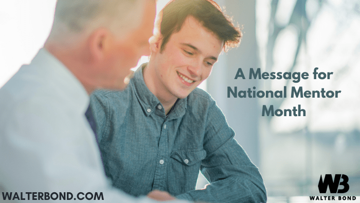 A message for National Mentor Month